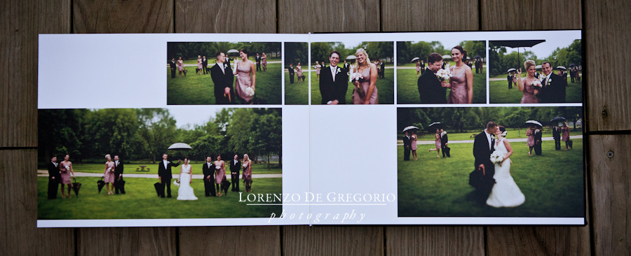 Queensberry wedding album Hotel Baker St. Charles