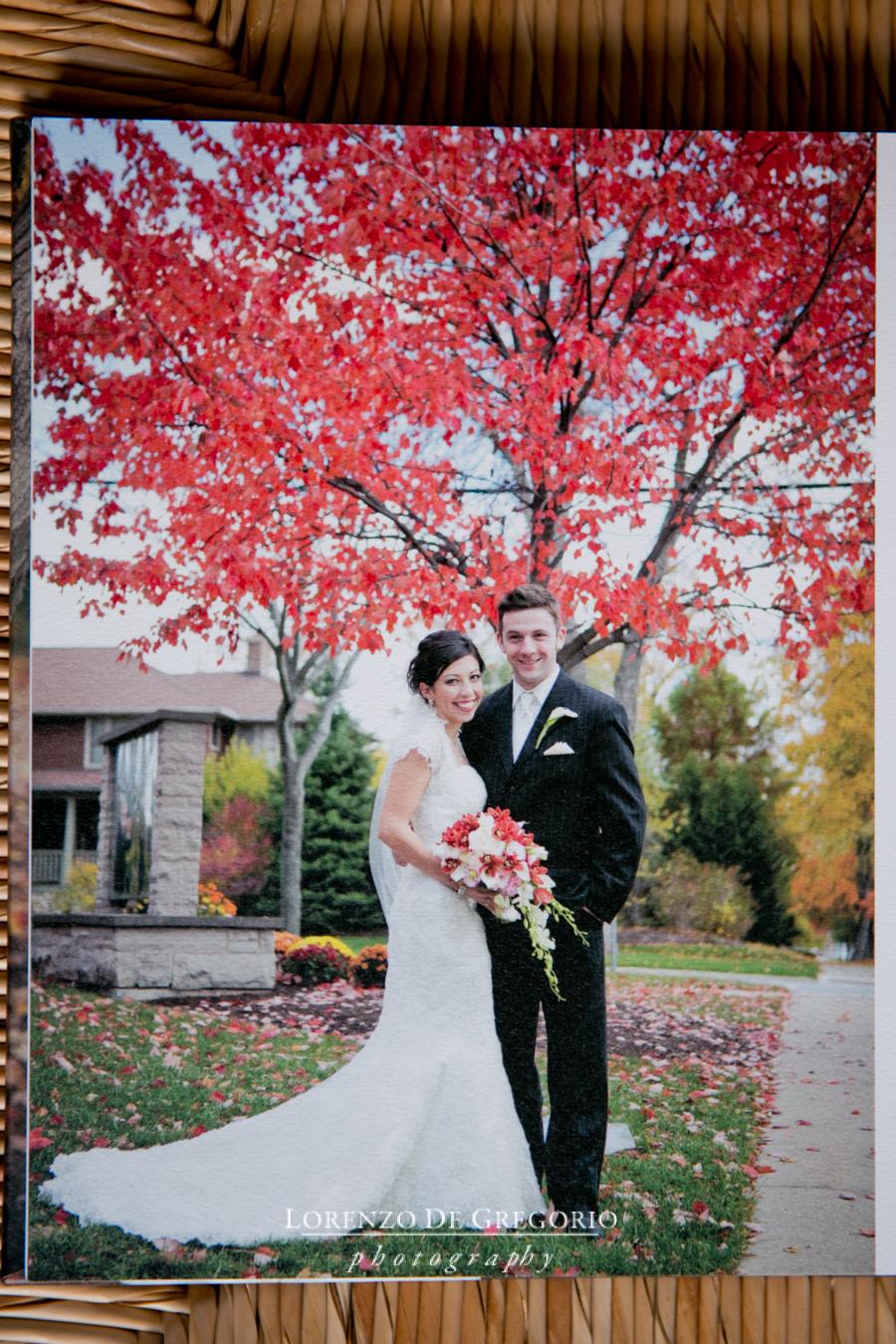 Queensberry album fall wedding Chicago