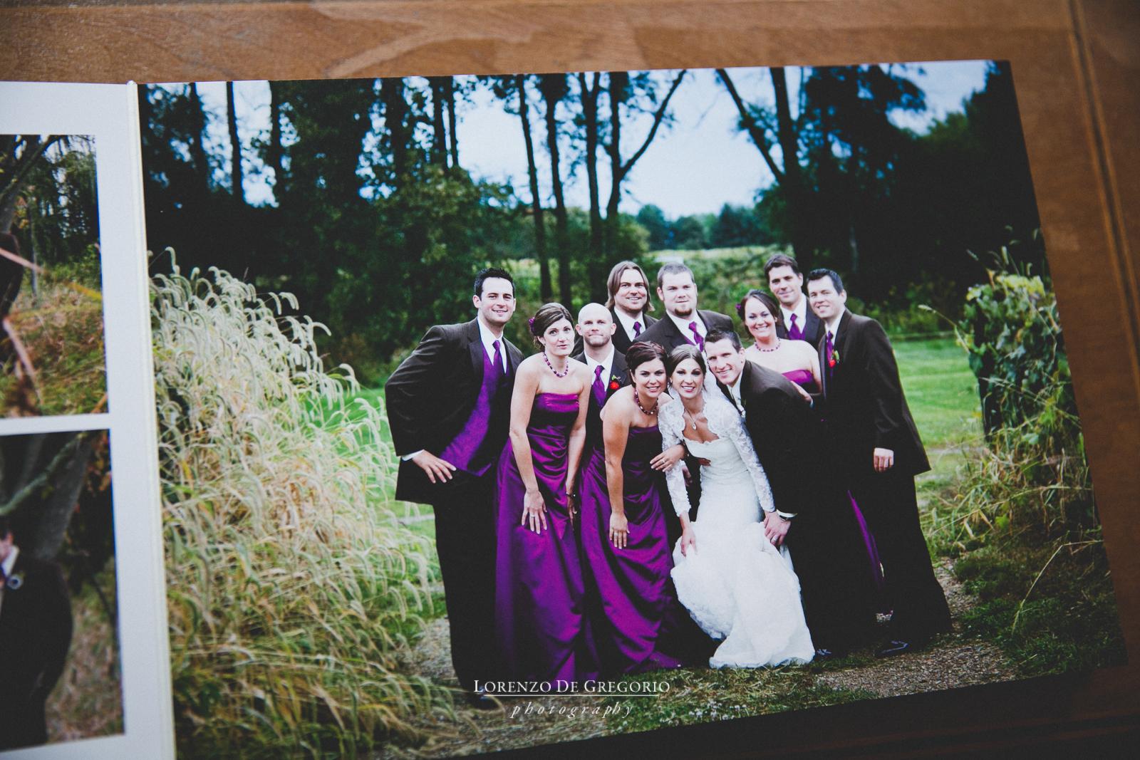 Michigan Queensberry album vineyard wedding