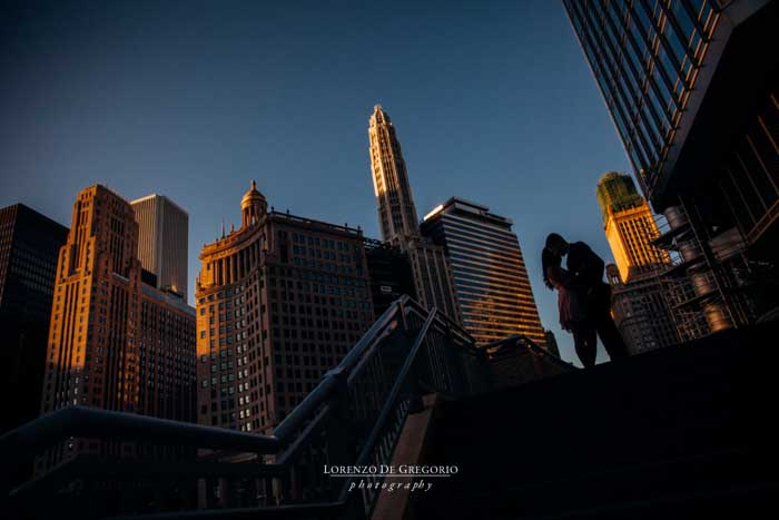 Chicago wedding photographer |Chicago sunrise engagement pictures