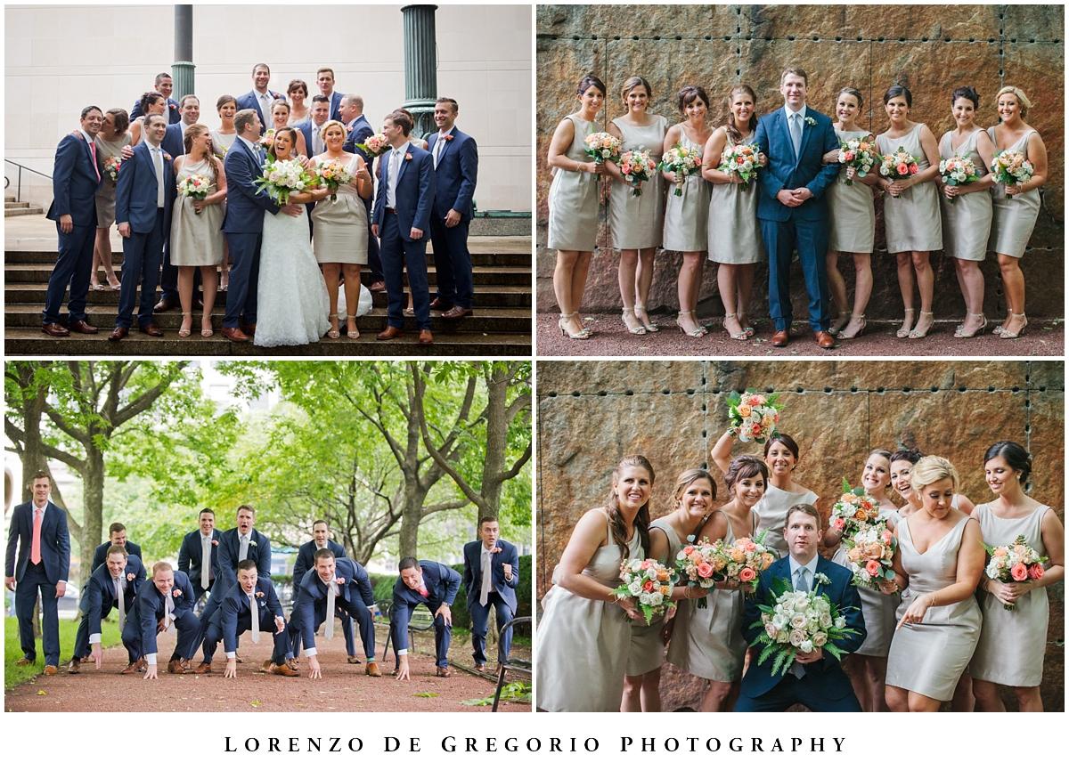 Art Institute wedding pictures wedding party