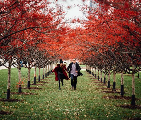 Chicago wedding photographer | Chicago winter engagement pictures